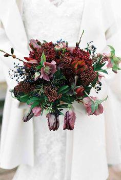 Wedding Wednesday :: Burgundy Bouquets