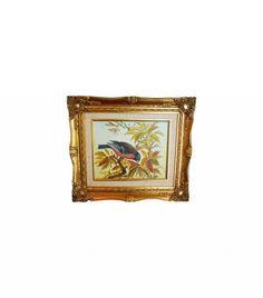 Chairish Chinoiserie Style Bird Painting