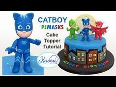 How to make Gekko from PJ Mask /Cómo hacer a Gekko para decorar tortas - YouTube