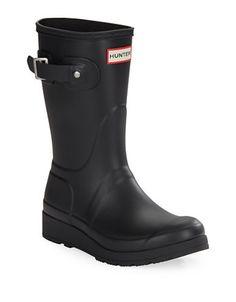 ccbb91841f61f Hunter Short Rubber Boots Women s Black 6 Short Rain Boots
