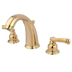 Widespread Bathroom Faucet with Double French Lever Handles