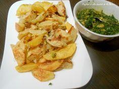 Cartofi copti cu fistic si sos de leurda - imagine 1 mare