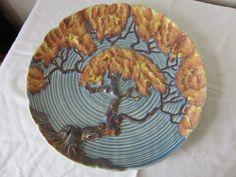 Carlton Ware Blue Oak Tree Charger