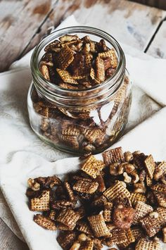 Pumpkin Spice Chex Mix from @Kristen @DineandDish