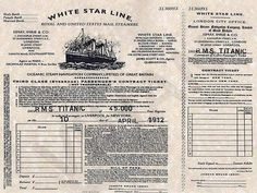 Ticket of titanic