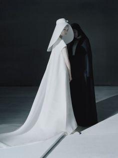 voguelovesme:Xiao Wen Ju, Fei Fei Sun, Sang Woo Kim by Tim Walker for Vogue China December 2014