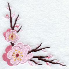 Cherry Blossom Corner to have embroidered on royal blue hand towels for my 1/2 bath.