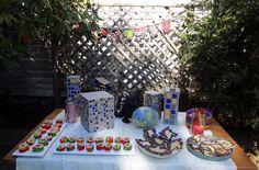 Godzilla Party - Handmade Decorations Godzilla Party, Godzilla Birthday Party, Birthday Cake, Handmade Decorations, Table Decorations, Crafts, Manualidades, Birthday Cakes, Handmade Crafts