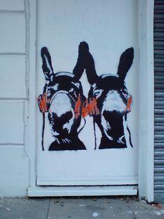 Donkeys by idleformat, via Flickr. street art 000