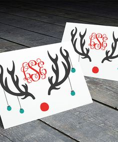 Look what I found on #zulily! Personalized Rudolph Monogram Folded Card - Set of 12 by RIADA ADAIR #zulilyfinds
