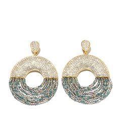 "Joan Boyce ""Trendy, Tasteful and Terrific"" Pavé Crystal Beaded Drape Clip-On Drop Earrings"