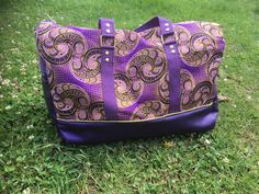 Sac Boston violet d'Audrey - Patron sac weekend Sacôtin