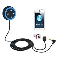 Apps2carTM Bluetooth Hands-free Car Kit Built-in 4.0 Monster Bt Chip for Cars with Aux Input Jack Line-in Music and Phone to Car Stereo - Factory Directly Sell & Guaranty - Ce FCC Approved - Retail Packaging:Amazon:Cell Phones & Accessories