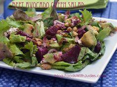 Beet Avocado Green Salad recipe