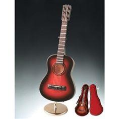 """7"""" Brown Steel String Guitar Music Box #hiddentreasuresdecorandmore"""