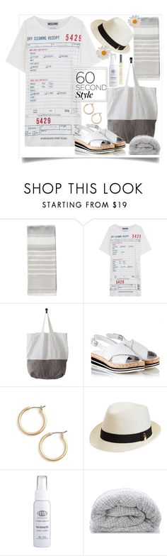 """""""60 seconds look"""" by natalyapril1976 ❤ liked on Polyvore featuring Moschino, Pons Quintana, Nordstrom, Melissa Odabash, SkinCare and The Organic Pharmacy"""