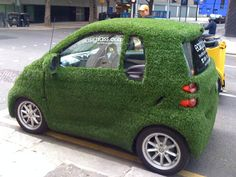 Smart car going REALLY green.