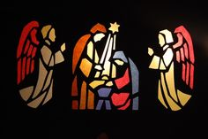 stained glass with tissue paper