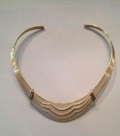 Vintage Estate Trifari Choker Necklace Gold Cream Enamel Costume Jewelry $58.99 via @shopseen
