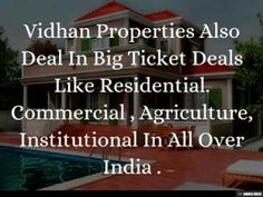 Buissness profile of vidhan properties