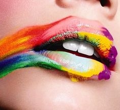 Rainbow Smear Lip Art Picture from Lipstick. Lip Art, Lipstick Art, Smeared Lipstick, Lipstick Smudge, Lipsticks, Rainbow Lips, Rainbow Candy, Rainbow Colors, Rainbow Art