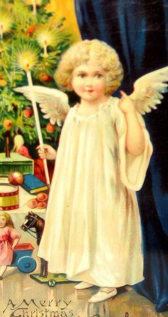 vintage Xmas angel