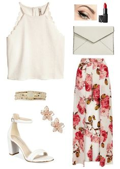 Floral style long skirt #fashion #fashionistas