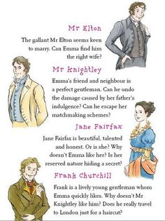 The characters in Emma