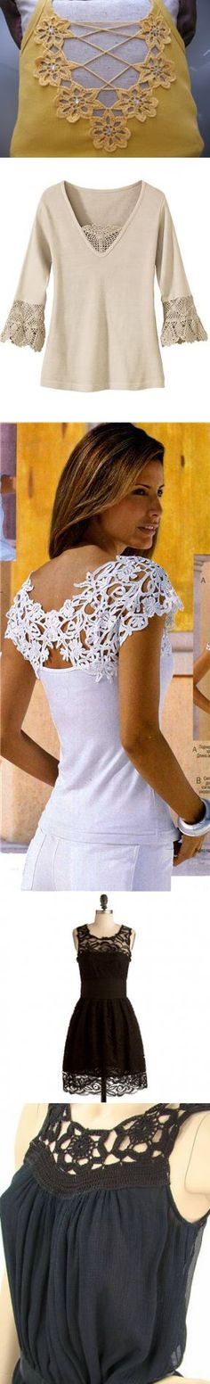 Knitted lace + cloth    Skilful hands