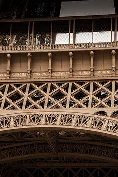 Some famous names on the Eiffel Tower