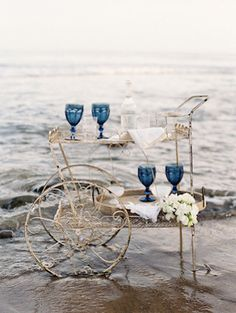Beach bar cart The ONLY Wedding Planner APP just launched for DIY brides!    https://itunes.apple.com/us/app/id961137479 thousands of DIY wedding tutorials for flowers,  centerpieces, hair, backdrops,  decor and more! by Anastasia Stevenson Wedding Planner
