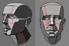 How to Draw a Face - Facial Proportions 3d Drawing Techniques, Drawing Skills, Drawing Lessons, Drawing Reference, Face Structure Drawing, Drawing The Human Head, Face Anatomy, Anatomy Drawing, 3d Drawings