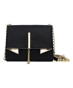 bag.lady · Love this Black  amp  Gold Trina Clutch on  zulily!  zulilyfinds  Gold Handbags 7b05aa35eff0f