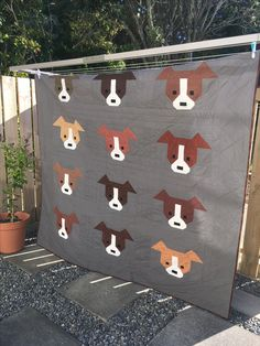 Dog Gone Cute queen sized quilt