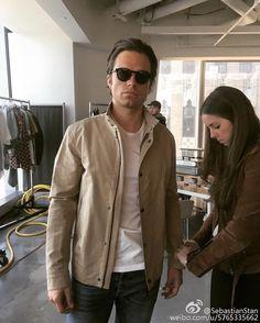 "James Buchanan Barnes on Instagram: ""Can I have her job? Ugh. #SebastianStan"""