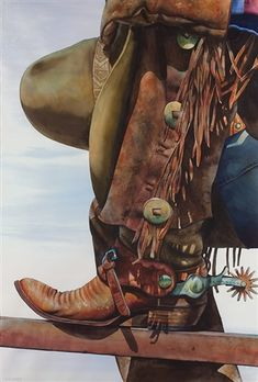 Cowboy's Hat and Boot by Nelson Boren