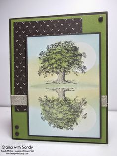 Stamp With Sandy: Stampin' Up! Lovely as a Tree Reflection Technique