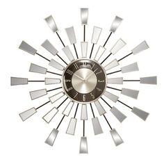 "Metal Mirror 22"" Wall Clock"