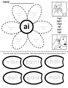 Jolly Phonics Digraphs - Worksheets and Activities Jolly Phonics Activities, Teaching Phonics, Kindergarten Worksheets, Classroom Activities, Phonics Lessons, Phonics Words, Alphabet Phonics, English Phonics, Teaching English