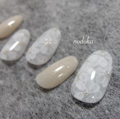 Beautiful nail art designs that are just too cute to resist. It's time to try out something new with your nail art. Rose Nails, Flower Nails, Bridal Nails, Wedding Nails, Japan Nail, Asian Nails, May Nails, Seasonal Nails, Nail Accessories