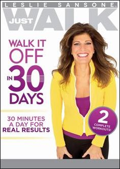 "Leslie Sansone's ""Walk It Off In 30 Days"" workout is great. I especially love the second workout that uses weight training. I'm a huge Leslie Sansone fan. Leslie Sansone, Before And After Weightloss, Workout Dvds, Workout Music, Major Muscles, Lose 5 Pounds, 20 Pounds, Thing 1, Susa"