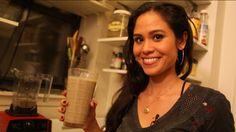 Protein smoothie: 2 C. unsweetened almond milk 1 banana 2 T chia seeds 1/4 C raw hemp protein 1/2 t cinnamon 1/2 t vanilla 2 drops stevia