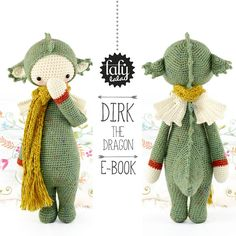 Dragón DIRK lalylala patrón de crochet / amigurumi por lalylala