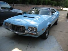 My first car - a 72 Ford Gran Torino. Mine was solid light blue without the black top.
