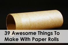 39 Awesome Things To Make With Paper Rolls from Toilet Paper and Paper Towel rolls - my favorite! Toilet Paper Roll Art, Rolled Paper Art, Toilet Paper Roll Crafts, Cardboard Crafts, Cardboard Rolls, Cardboard Paper, Diy Paper, Diy Organisation, Closet Organization