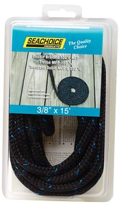 Blue with Black Tracer Double Braided 100% Mfp #Dock Line-50-42411
