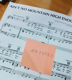 I simply couldn't help myself. I want to do this with a full SATB choir. #gospel #aintnomountainhighenough #sisteract2 #piano #score #satb #choir #music #musicstudent #studentteacher #instadaily #instamusic #instagospel #sheetmusic #notes #singsingsing by aaroncalder