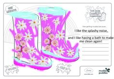 Ellia (age I like getting muddy because.She likes the noise of the mud and puddles when she jumps, she also likes getting muddy as she loves a nice bath afterwards! Design Competitions, Designer Boots, Me Clean, Age 3, Mud, Rubber Rain Boots, Bath, Nice, Bathing