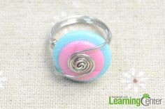 DIY Button : DIY Making a Wire Wrapped Button Ring