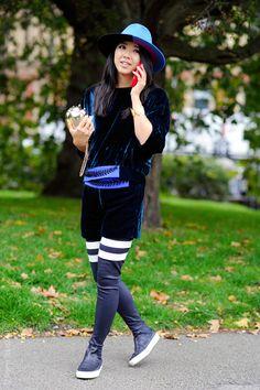 London – Yuwei Zhangzou. #LFW, #YuYu #yuyufashionbook, #England, #Fashion, #LFW #FW15, #London, #Moda, #Mode, #SS16, #Street, #StreetStyle, #Style, #UK, #Woman, #Women, #YuweiZhangzou, #YUYU Photo © Wayne Tippetts